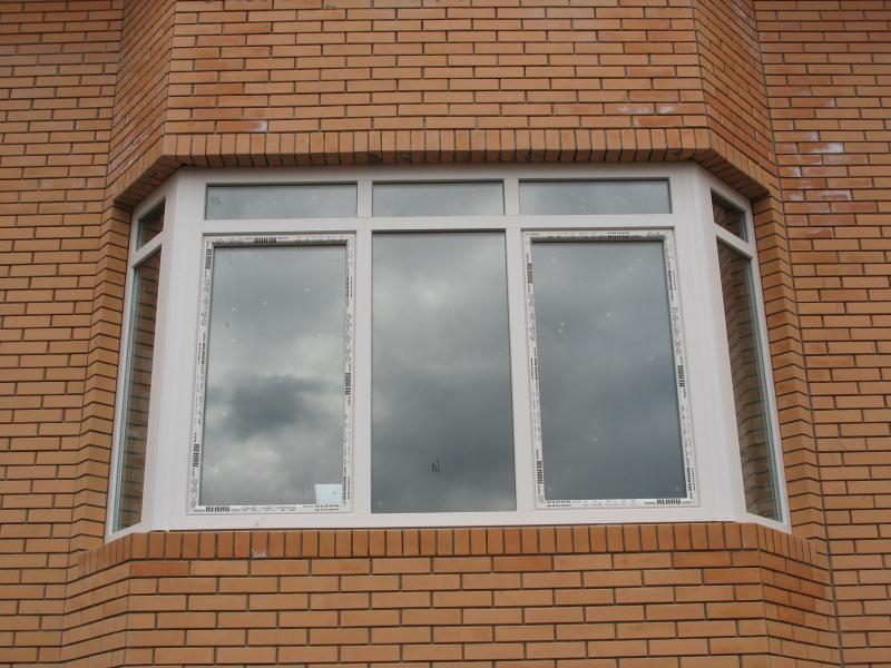 Эркерное пластиковое окно в новостройке, окна евро+ , окна п.